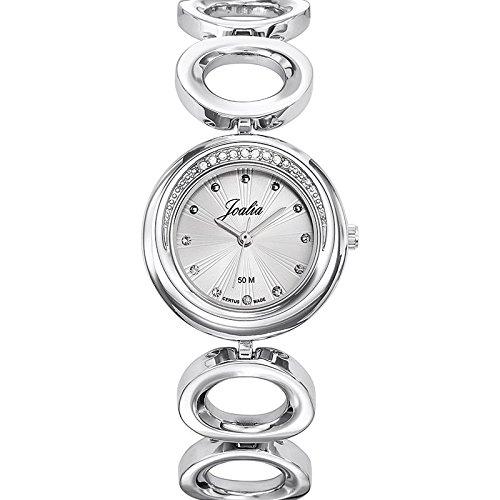 Joalia 633341 Damen Armbanduhr 045J699 Analog silber Armband Metall silber