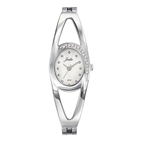 Joalia 633342 Damen Armbanduhr 045J699 Analog silber Armband Metall silber