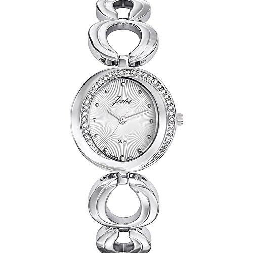 Joalia 633343 Damen Armbanduhr 045J699 Analog silber Armband Metall silber