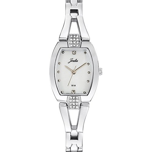Joalia 633344 Damen Armbanduhr Quarz Analog Ziffernblatt Perlmutt Armband Metall silber
