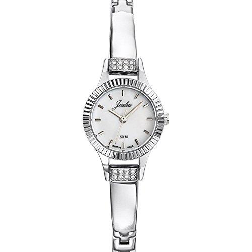Joalia 633346 Damen Armbanduhr Quarz Analog Ziffernblatt Perlmutt Armband Metall silber