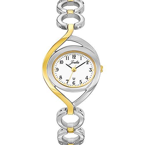 Joalia 634504 Damen Armbanduhr 045J699 Analog weiss Armband Metall Zweifarbig