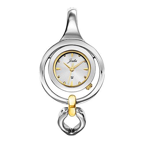 Joalia 634506 Damen Armbanduhr 045J699 Analog silber Armband Metall Zweifarbig