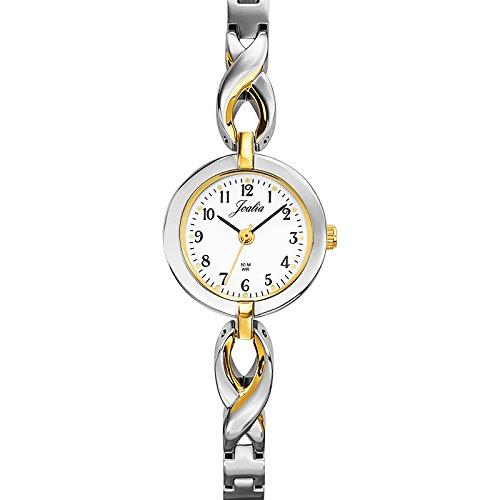 Joalia 634511 045J699 Analog weiss Armband Metall Zweifarbig