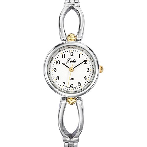Joalia 634573 Damen Armbanduhr 045J699 Analog weiss Armband Metall Zweifarbig