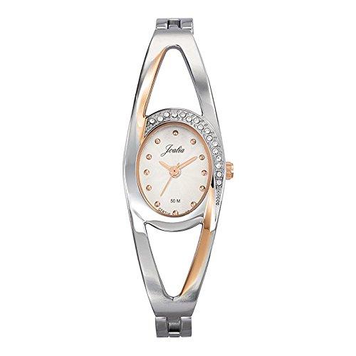 Joalia 634599 Damen Armbanduhr 045J699 Analog silber Armband Metall silber