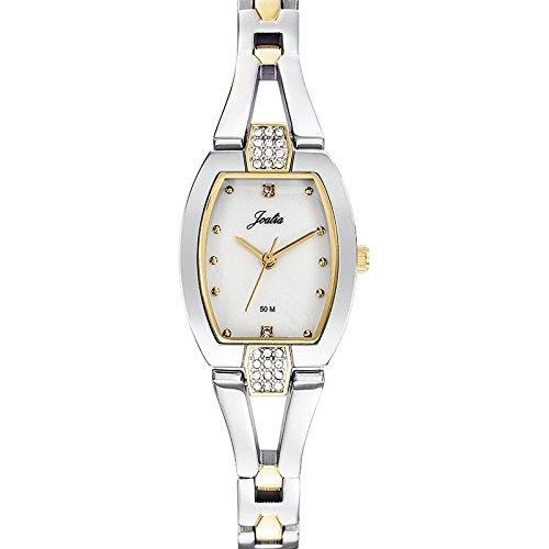 Joalia 634600 Damen Armbanduhr Quarz Analog Ziffernblatt Perlmutt Armband Metall Zweifarbig
