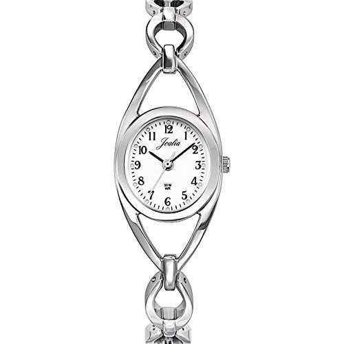 Joalia-633261Damen-Armbanduhr 045J699Analog weiss Armband Metall silber