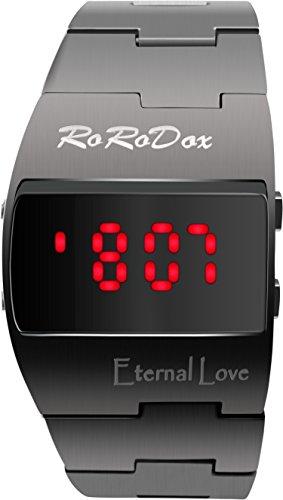 rorodox rot LED Display Luxus Army Military Handgelenk Uhren schwarz rx166br