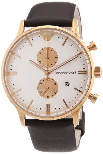 Emporio Armani XL Chronograph Quarz Leder AR0398 9086