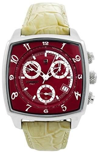 Lancaster Herren-Armbanduhr Analog Quarz Leder 0262RWE