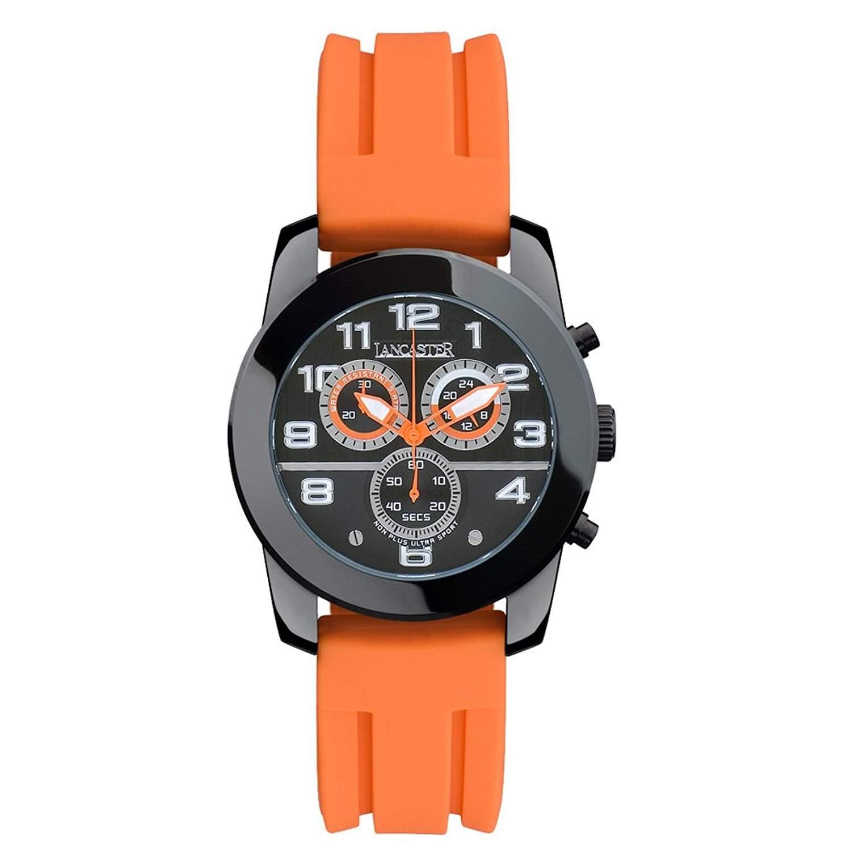 LANCASTER NONPLUSULTRA Sportarmbanduhr 0466 - OrangeSchwarz