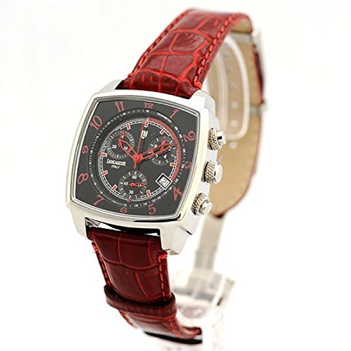 Lancaster Uhr Unico Watch Quarz Chrono Datum Leder klassische Herrenarmbanduhr 0262SRR