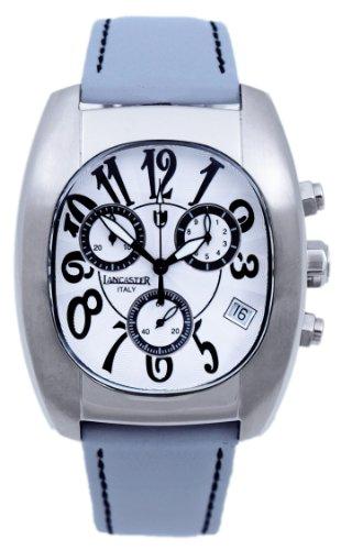 Lancaster Herren Armbanduhr XL Intrigo Chronograph Leder 0289WSW