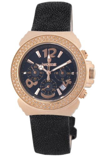 Lancaster Damen OLA0424G NR NR Diamant Pillo Chronograph Diamant Brown Zifferblatt