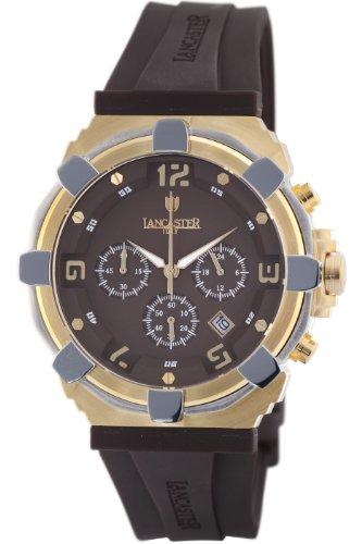 Lancaster Manner OLA0440L YG MR MR Robusto Chronograph Brown Dial Rubber Uhr
