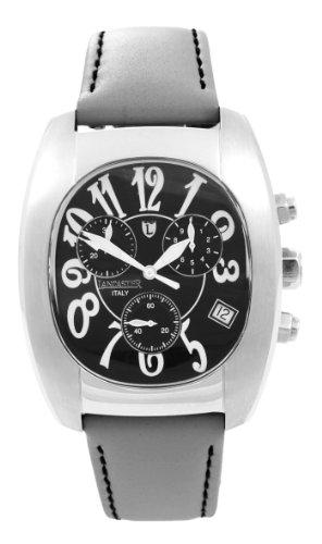 Lancaster Unisex Armbanduhr Joss Chronograph Leder 0289 S Grau