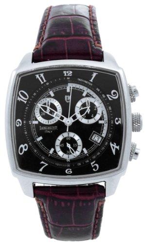 Lancaster Unisex Armbanduhr Unico Watch Chronograph Leder 0262SWR