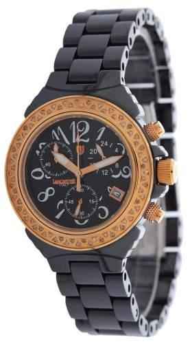 Lancaster CERAMIK Quartz Damen Uhr schwarz
