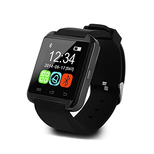 Speedster Smart Watch Bluetooth Armbanduhr Smartphone for fuer Samsung HTC LG Android OS Handy und Apple iOS iPhone Remote Camera Selfie Phone Call Sync Nachricht Anti Verlorene