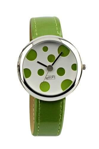 Eton - Limettenfarbene Uhr mit gruenen Punkten