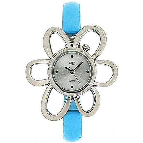 Eton gruenes Blumengehaeuse, schmales Armband Uhr