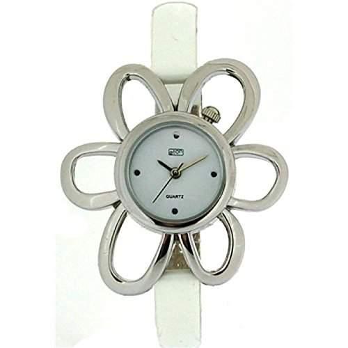 Eton elfenbein Blumengehaeuse, schmales Armband Uhr