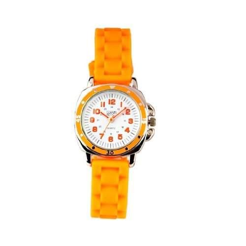 Eton 2848L Gold Unisex-Armbanduhr Regate Quarz analog Silikon, Orange