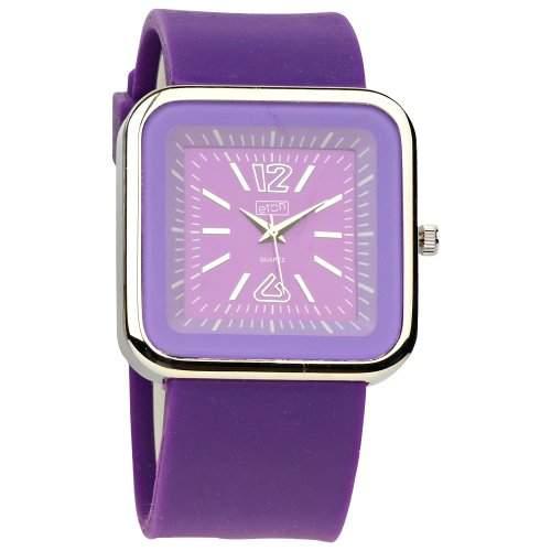 Eton Damen-Armbanduhr Analog Silikon violett 2897-6