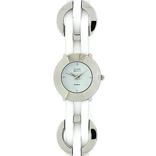 Eton Damen Modearmbanduhr mit weissem Zifferblatt und geflochtenen Gliedern 2303L