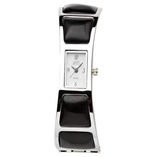 Eton Damen-Armbanduhr Analog Quarz schwarz 2907L-BK