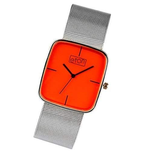 Eton Damen Modeuhr mit orange Zifferblatt und Maschenarmband 2920J