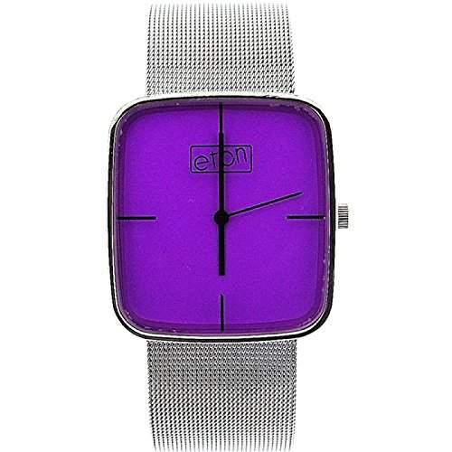 Eton Damen Modeuhr mit purpur Zifferblatt und Maschenarmband 2920J