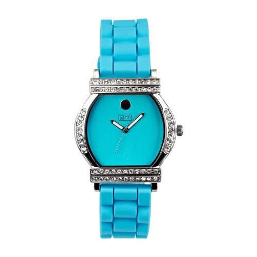 Eton WomenHerren Quarzuhr mit blauem Zifferblatt Analog-Anzeige und blauem Silikon Strap 2999J-AQ