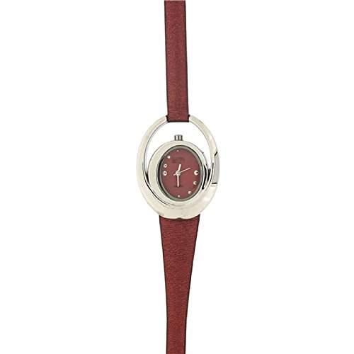 Eton Damen Modeuhr mit konzentrischen Kreisen und rostfarbenen Armband 3006L