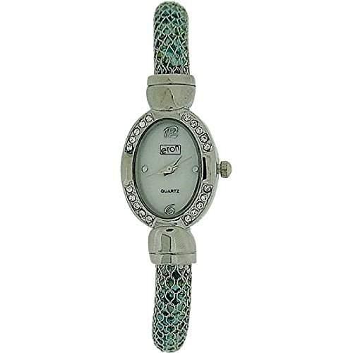 Eton Damenuhr, ovales weisses Zifferblatt, Kristalle, Schlaucharmband, 3073L