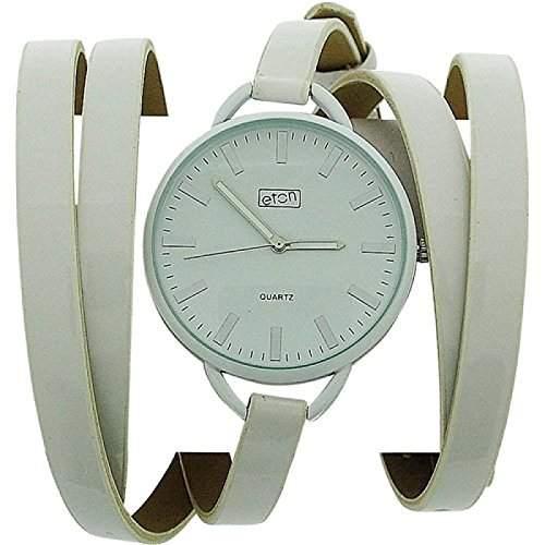 Eton Damenuhr,weisses Zifferblatt und extralangem Wickelarmband, 3080L