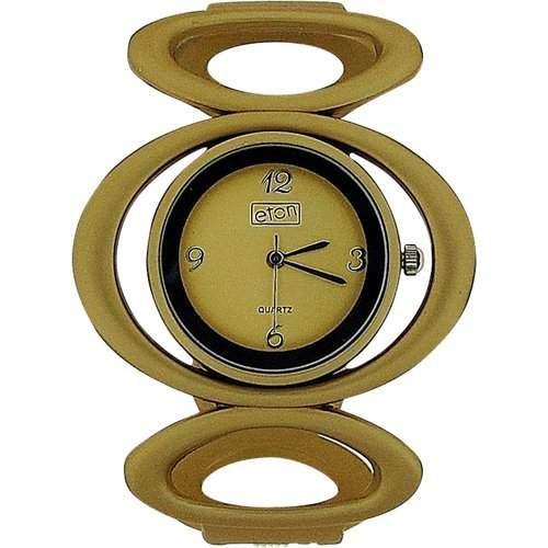 Eton DamenMaedchenuhr, goldfarben, offene Glieder, Metallbangle, 3121J