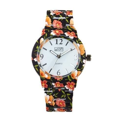 Eton Damen schwarze Blumen, Fantastic Designer Branded, Woman Armband-Uhr - 3150L-BK