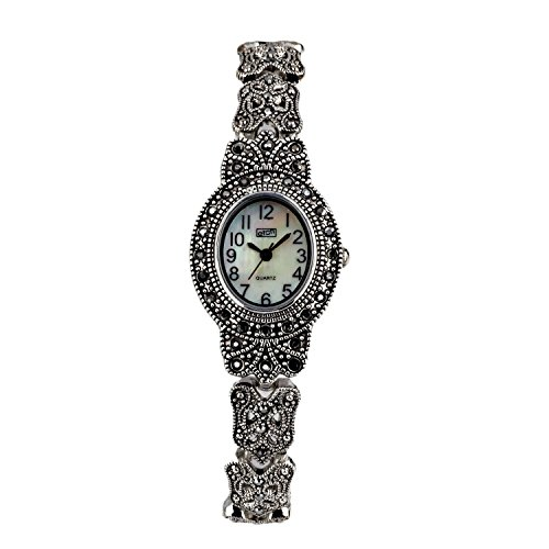 Eton Damen Markasit Uhr oval Fall Mop Zifferblatt Antik Finish 3182l