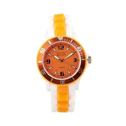 Eton Unisex Armbanduhr Analog Silikon Weiss 3014J OR