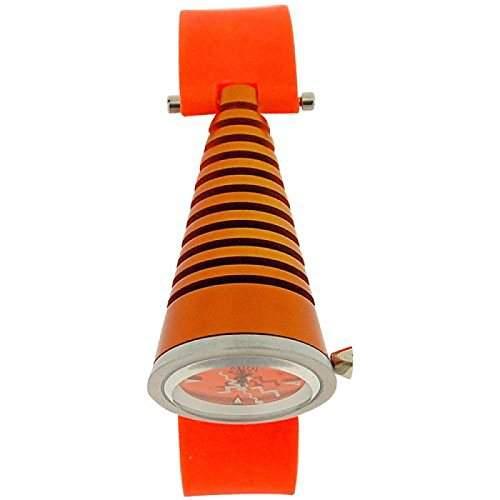 Kool Time Damen Konusuhr leuchtend orange Zifferbl & Silikonband