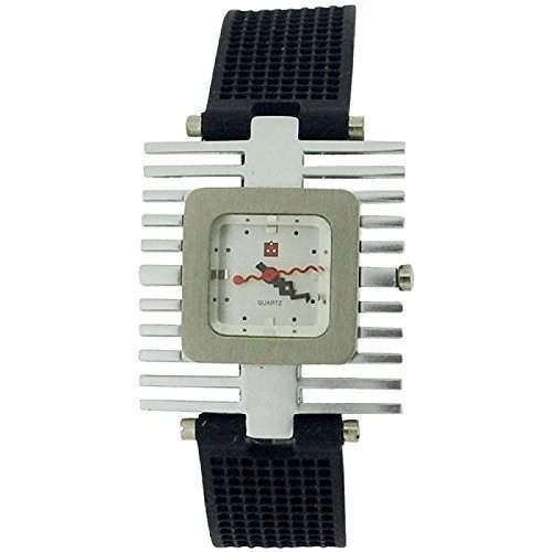 Kool Time Spacetime Quad Damenanaloguhr schwarzes Silikonband KT12