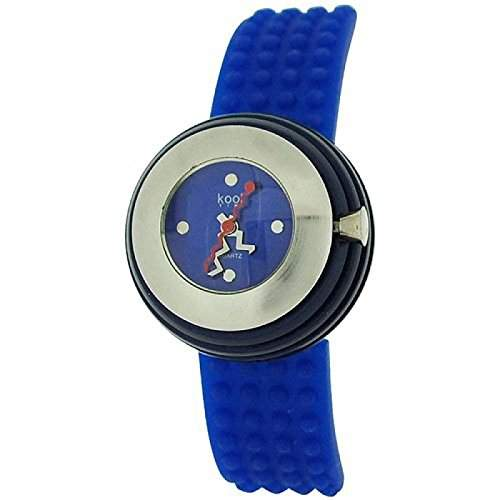 Kool Time Damen Sphaeroid Uhr blaues Zifferbl & Silikonband KT014