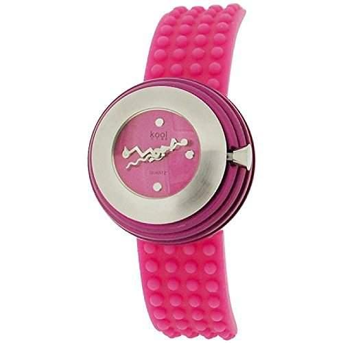Kool Time Damen Sphaeroid Uhr rosa Zifferbl & Silikonband KT014