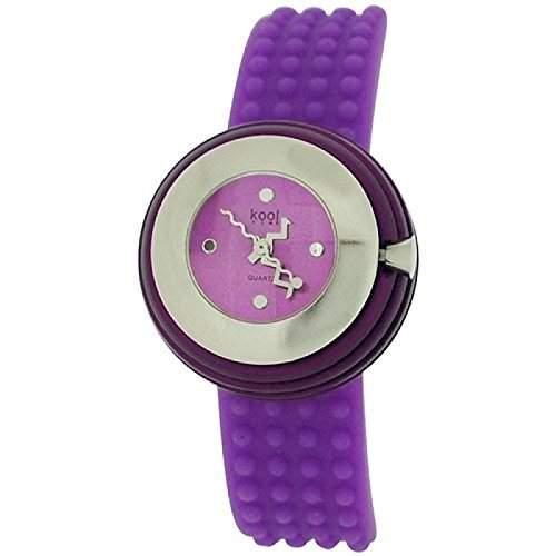 Kool Time Damen Sphaeroid Uhr violettes Zifferbl & Silikonband KT014