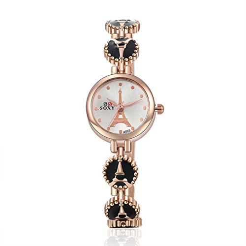 Ouneed Uhren Mode Damen Armband Armband Uhren Frauen Maedchen Geschenk schwarz
