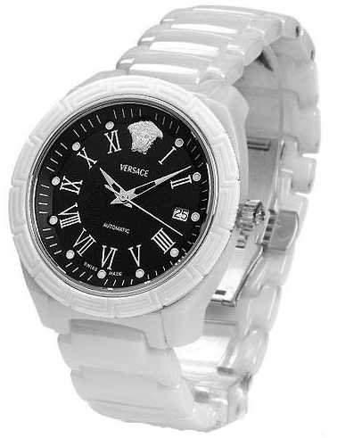Versace Damen-Armbanduhr Analog Automatik Keramik Weiss 01ACS1D009 SC01