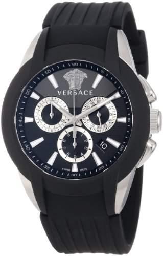 Versace Herren-Armbanduhr XL CHARAKTER CHRONO Chronograph Quarz Kautschuk M8C99D008S009