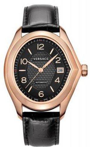 Versace Herren 20A380D009 S009 V Master Schweizer Automatik Rose Gold Plated Black Dial Uhr